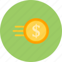 cash, fast coin, finance, money icon