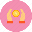cash, donation, finance, money icon