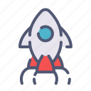 launch, rocket, release, startup icon