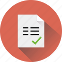 blank, business, checked, document icon
