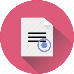 blank, business, document, file, office, paper, stamp, text icon