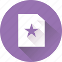 blank, document, file, paper, shape, star icon