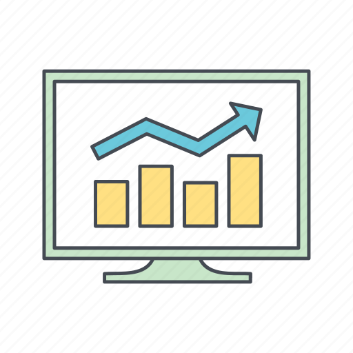 analysis, business chart, graph icon
