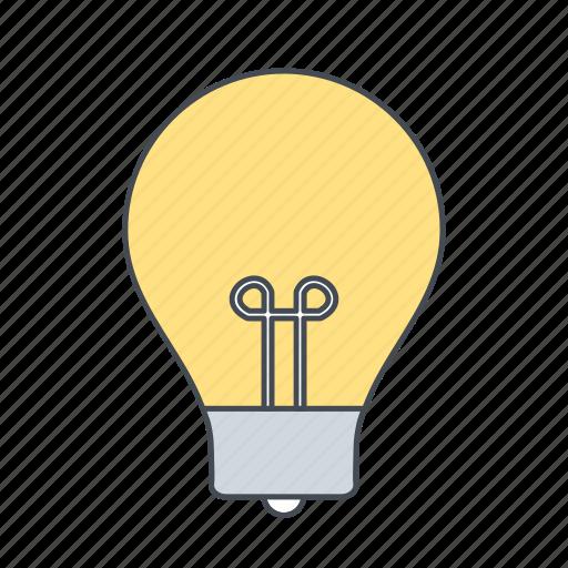 bulb, creativity, light icon