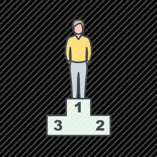 achievement, promotion, success icon