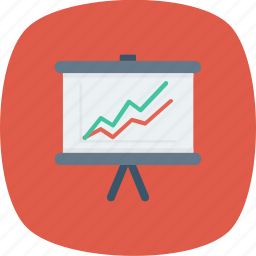 analytic, board, business, chart, presentation, report icon icon