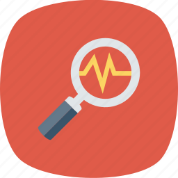 analysis, business, diagnostic, search icon icon