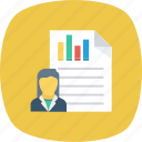 analysis, contact, list, report, user, user chart icon icon