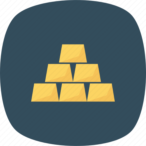 bars, gold, gold bar, gold bars icon icon