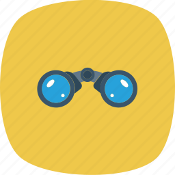 binoculars, business, scan, search icon icon