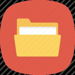 document, file, folder, office icon icon