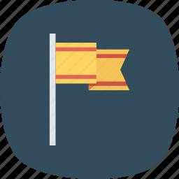 flag, mountain, success, target icon icon