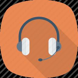 ear, head, headset, phone, radio icon icon