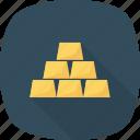 bars, gold, gold bar, gold bars icon