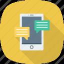 bubble, chat, phone, talk icon icon