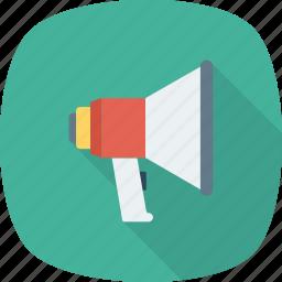 announcement, bullhorn, marketing, megaphone icon icon