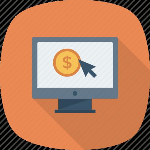 click, pay, pay per click, per, ppc icon icon