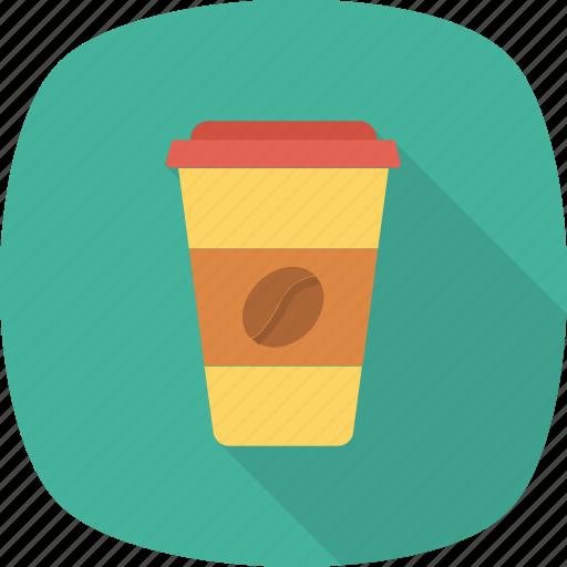 coffee, glass, paper icon icon
