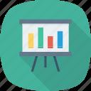 board, business, chart, presentation, report icon, analytics