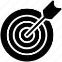 arrow, goal, target icon icon