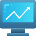 money, positive business, predictions, profit icon