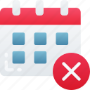 business, calendar, deadlines, missed, schedule, time icon