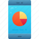 business, data, mobile, phone, research, results, review icon