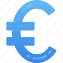 business, currency, euro, finances, money, sign icon