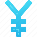 business, currency, finances, money, sign, yen icon