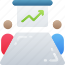 board, business, conference, meeting, room, whiteboard icon