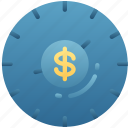 business, clock, deadline, financial, time keeping, timing icon