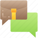 business, messages, reporting, slack, texting icon