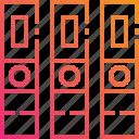 document, folder, gradient, management, paper icon