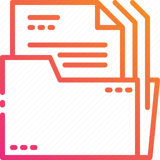 document, files, folder, gradient, management, paper icon