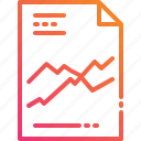 chart, document, file, graph, paper, statistic, trading icon