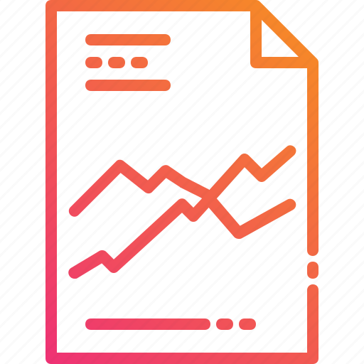 chart document file graph paper statistic trading icon