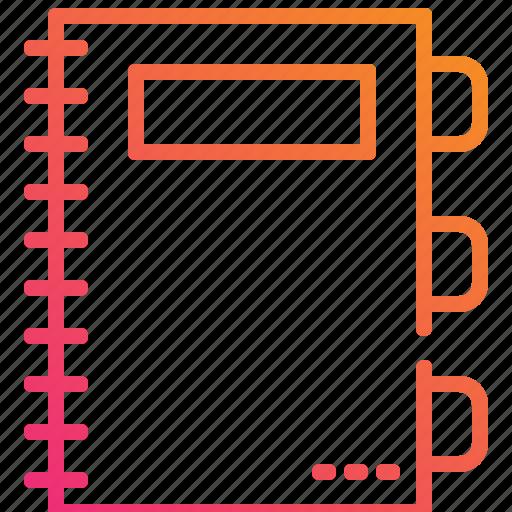 document, gradient, management, note, paper, postit icon