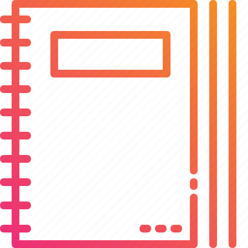 document, gradient, management, paper, report icon