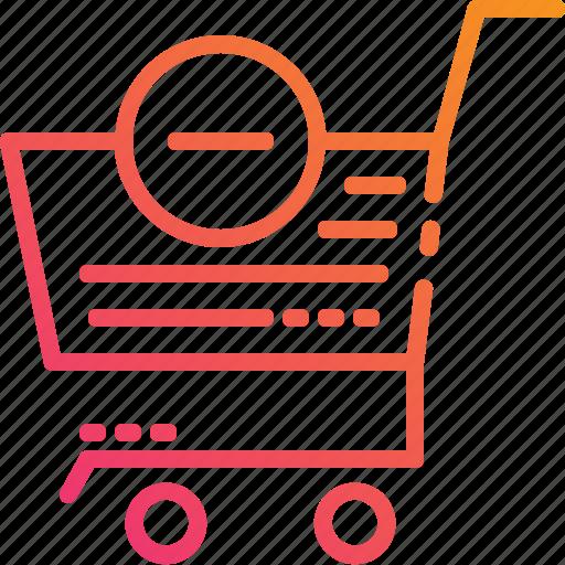 basket, cancel, delete, market, retail, shopping, store icon