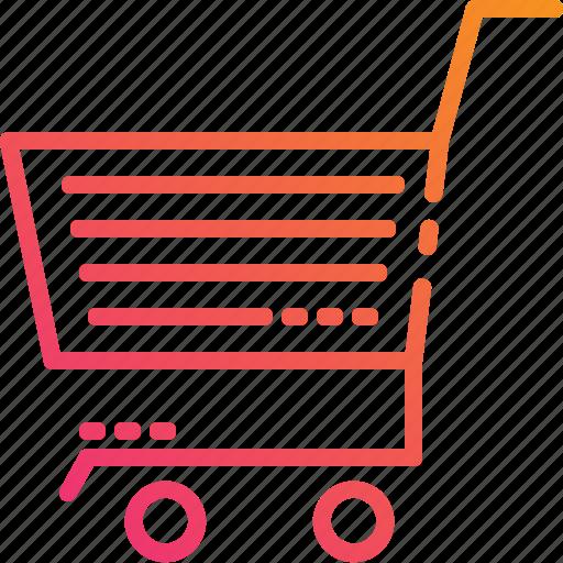 busket, gradient, market, retail, shopping, store icon