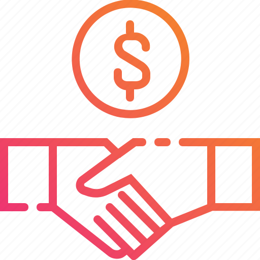 advantage, benefit, business, hand, money, partner, shaking icon