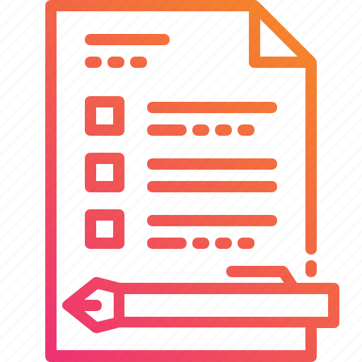 choice, condition, document, gradient, pen, signage, topic icon