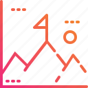 entry, goal, gradient, graph, mountian, success, sun icon
