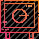 bank, box, cash, gradient, locker, safe, security icon