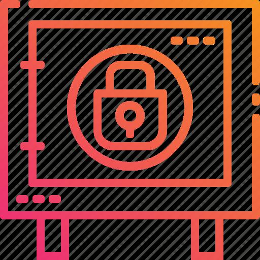 bank, box, cash, lock, locker, safe, security icon