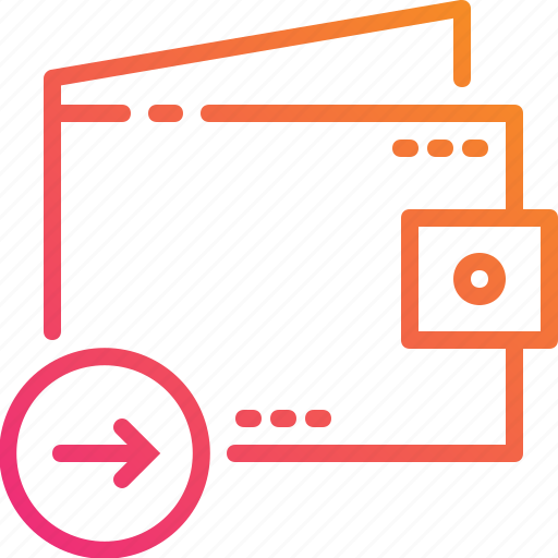 arrow, budget, cash, finance, money, payment, wallet icon
