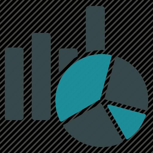analytics, bar graph, charts, diagram, graphs, pie chart, statistics icon
