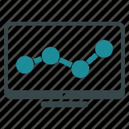 arrow, chart, display, graph, growth, progress, trend icon