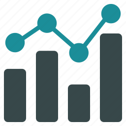 analysis, analytics, bar chart, charts, diagram, graph, trend icon