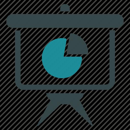 graph, market, pie chart, presentation, report, sales, statistics icon
